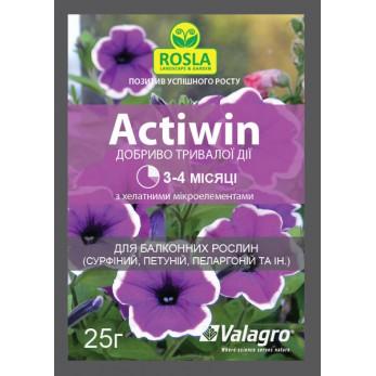 Комплексное минеральное удобрение Actiwin (Активин), 25г, для балконых растений, NPK 12.5.20+ME