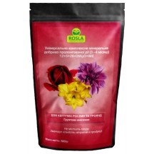Комплексное минеральное удобрение для роз и цветущих растений Mivena (Мивена), 500г, NPK 12.5.28+2MgO+ME