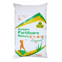 Комплексное удобрение для газона Complex Fertilizer (Комплекс) NPK 21.6.8+МЕ, 25кг